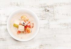 Muesli with fresh fruits Royalty Free Stock Image