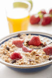 Muesli and fruit. Healthy breakfast with muesli and fruit royalty free stock images