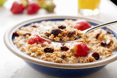 Muesli and fruit. Healthy breakfast with muesli and fruit Stock Images