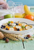 Muesli with  fruit Stock Photography