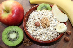 Muesli with fruit Royalty Free Stock Images