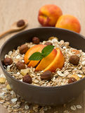 Muesli with fruit and nuts Stock Photography
