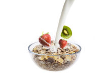 Muesli and Fruits Stock Photos