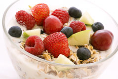 Muesli with Fruits Stock Photos