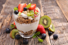 Muesli and fruits Royalty Free Stock Images