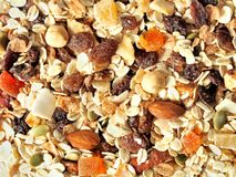 Muesli with fruits and nuts royalty free stock photography