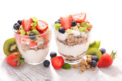 Muesli and fruits Royalty Free Stock Photography