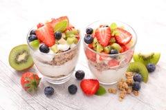 Muesli and fruits Stock Photography