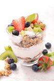 Muesli and fruits Royalty Free Stock Image