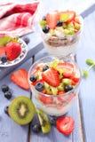 Muesli and fruits Royalty Free Stock Photo