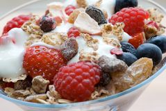 Muesli in glass Stock Images