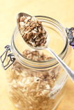 Muesli glass Stock Photography