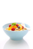 Muesli (granola) with berries and yogurt. For breakfast stock images
