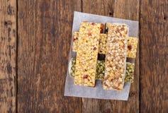 Muesli / granola / fruit bars stock images