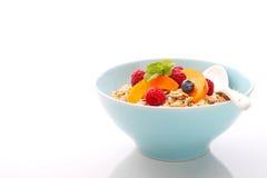 Muesli (granola) met bessen en yoghurt Stock Afbeelding