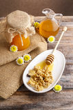 Muesli with honey Stock Photo