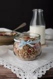 Muesli in jar. Royalty Free Stock Images