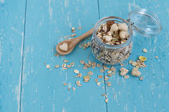 Muesli in a jar Stock Images