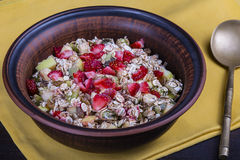 Muesli with lots of dry fruits, nuts, berries and grains Stock Image
