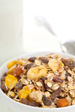 Muesli with milk Stock Image