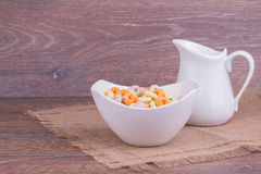 Muesli with milk Stock Photography