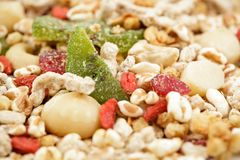 Muesli mix Royalty Free Stock Photos