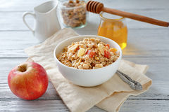 Muesli with nuts in a bowl Stock Images
