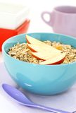 Muesli of oats and apple in bowl Royalty Free Stock Photography