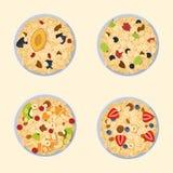Muesli oats granola Royalty Free Stock Photos