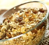 Muesli of oats with raisin Royalty Free Stock Photography