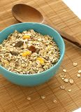 Muesli of oats with raisin in bowl Royalty Free Stock Photo