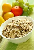 Muesli of oats with raisin and fresh fruit Stock Photography