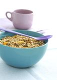 Muesli Of Oats With Raisin In Bowl And Cup Royalty Free Stock Images