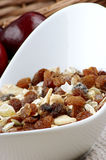 Muesli with raisins in a bowl Royalty Free Stock Images