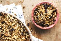 Muesli with raisins photography recipe idea royalty free stock photo