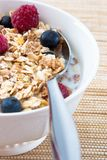 Muesli with Raspberries and Blueberries Royalty Free Stock Photos
