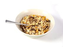Muesli in saucer Stock Photos