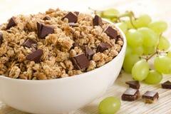 Muesli-Schokolade Stockfotos
