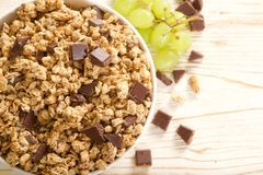 Muesli-Schokolade Lizenzfreies Stockbild