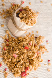 Muesli in small sack Stock Photography