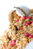 Muesli in small sack Stock Images