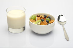 Muesli and soy milk Royalty Free Stock Photos