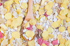 Muesli and spoon Stock Photography