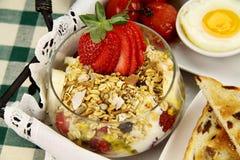 Muesli And Strawberries Stock Photography