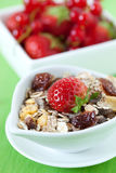 Muesli with strawberry Royalty Free Stock Photo