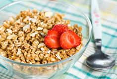 Muesli with strawberry Stock Image