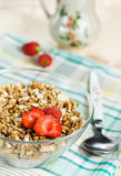 Muesli with strawberry Royalty Free Stock Image