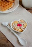 Muesli with sweet hearts Royalty Free Stock Photography