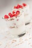 muesli truskawek jogurt Obraz Royalty Free