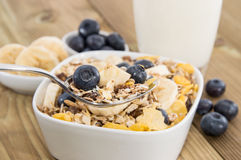 Muesli With Blueberries On A Bowl Stock Images